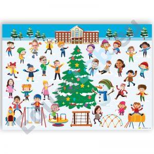 """A0 formato FOTO plakatas vaikams """"Žiema"""""""